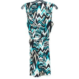 BEBE Womens Dress Sleeveless V Neck Belt XS H2